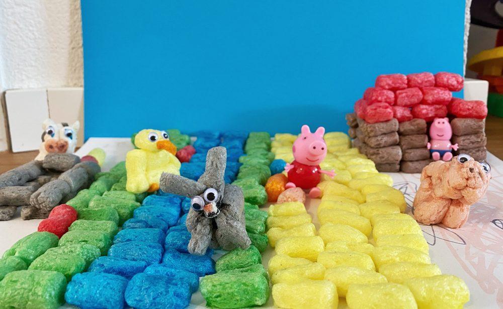 Knutselpakketten voor thuis playmais boerderij