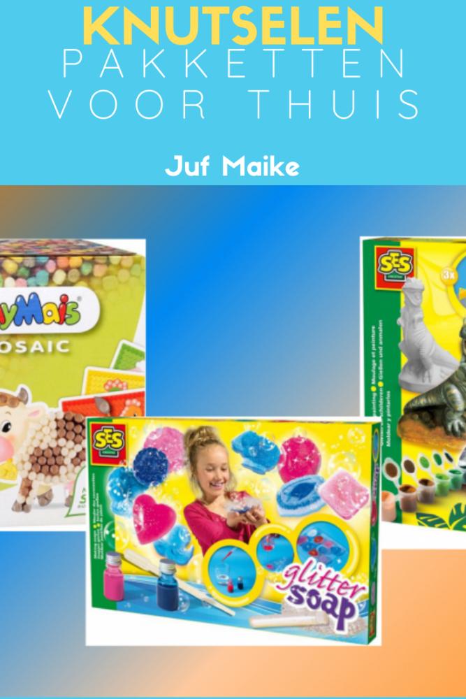 De leukste knutselpakketten voor thuis; Strijkkralen, gips, krimpfolie, kaarsen maken, speelmaïs, cupcake factory