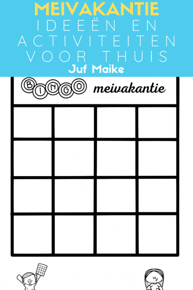 Activiteiten en ideeën voor meivakantie thuis + bingo download
