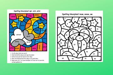 Kleurplaten spelling - lastige stukjes