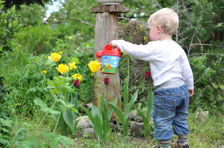 Vakantie in de tuin, thema peuters