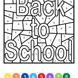Kleuren op code Naar school