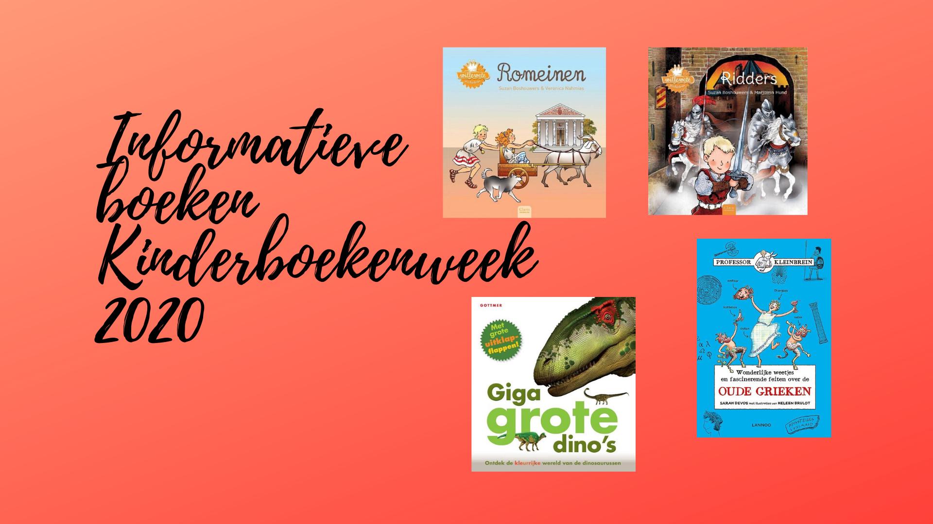 Informatieve boeken Kinderboekenweek 2020: En toen?