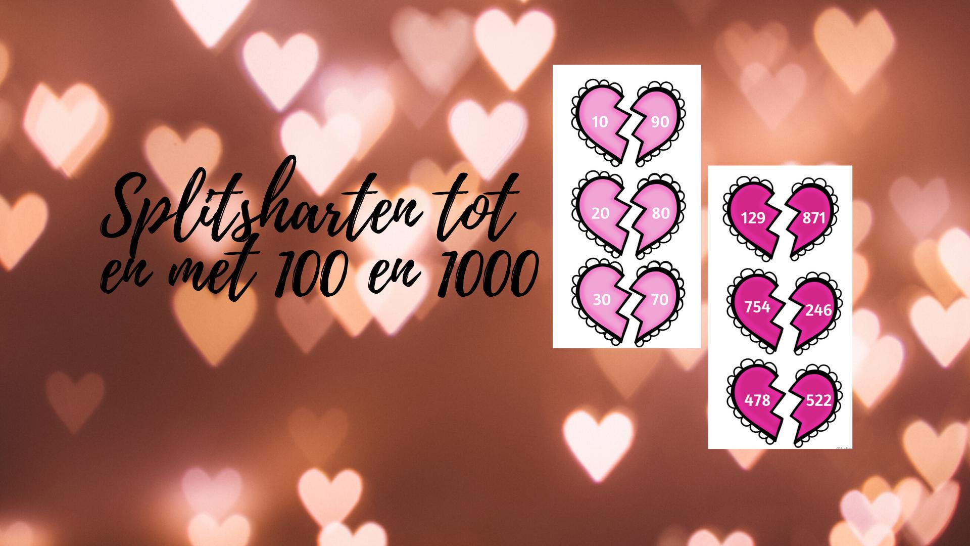 Splitsharten tot en met 100 en 1000