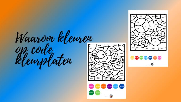 Waarom kleuren op code kleurplaten