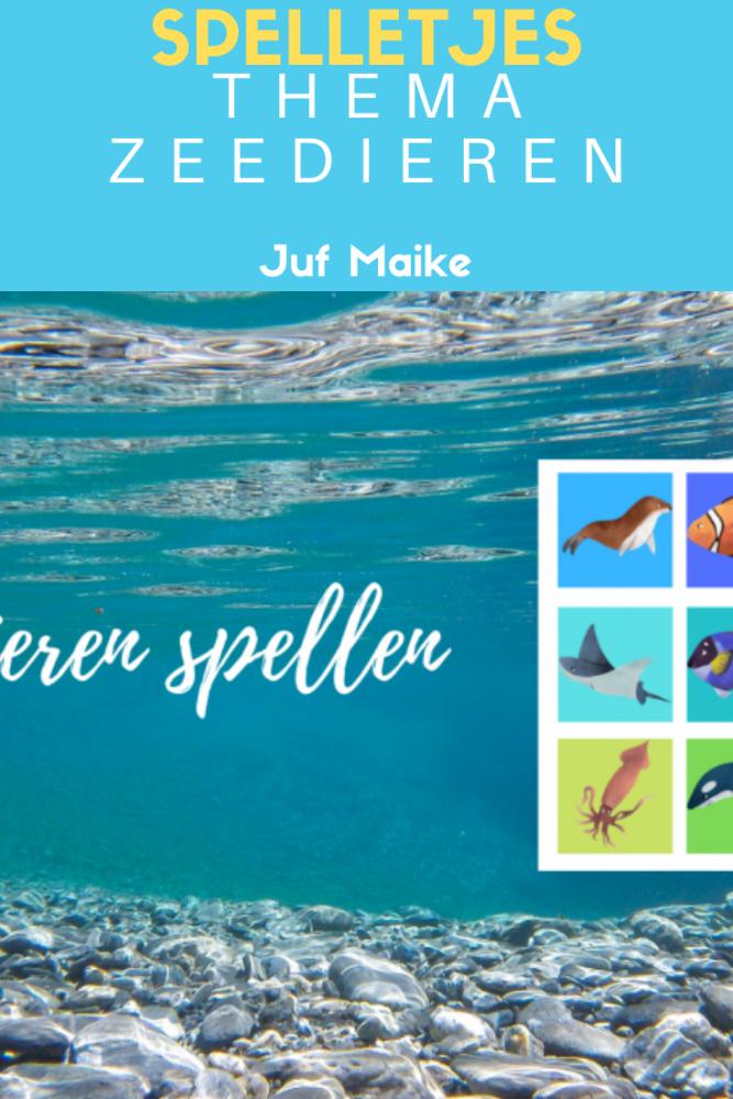 Zeedieren spellen memory en bingo