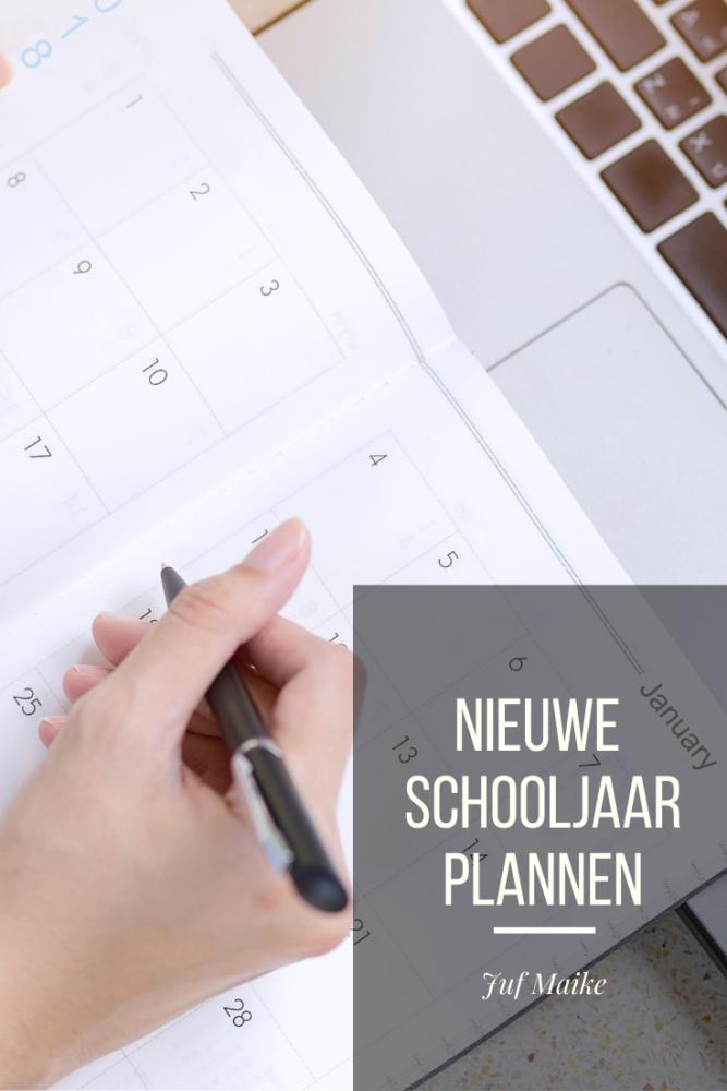 Nieuwe schooljaar plannen
