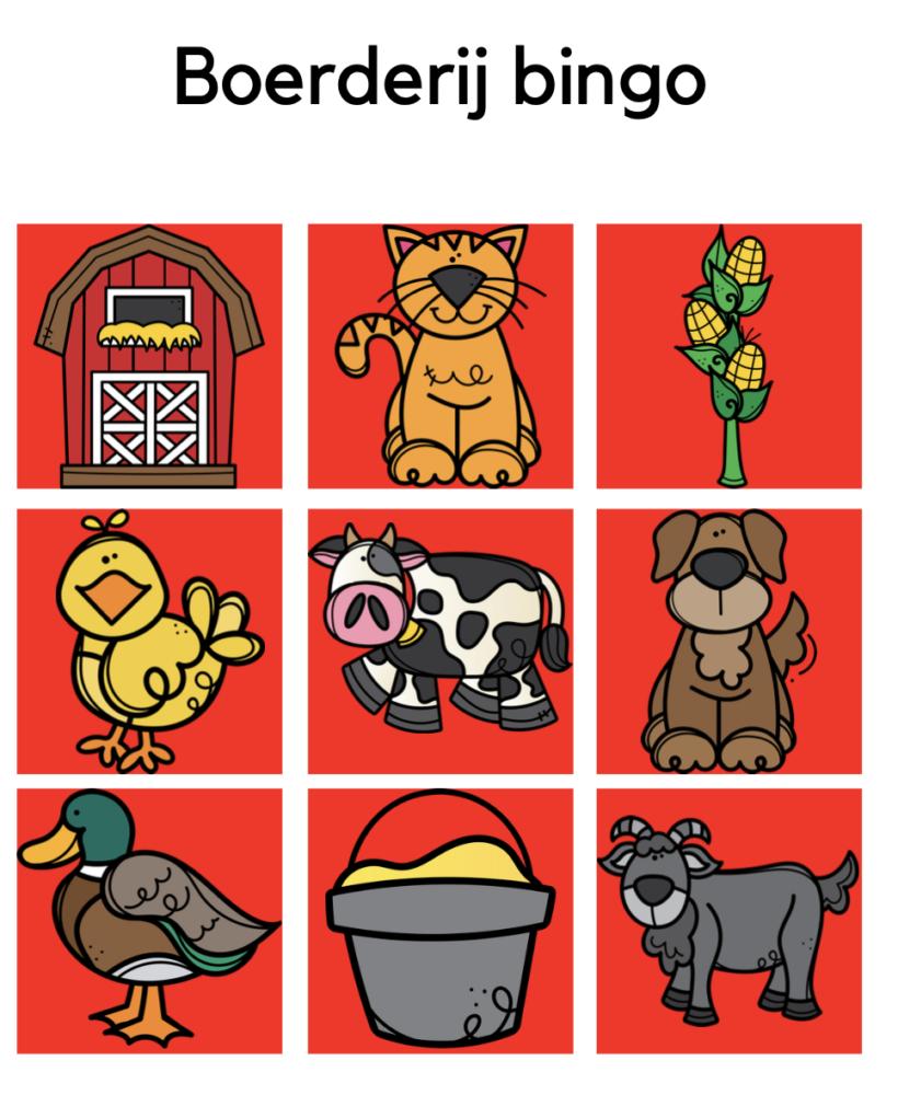 Boerderij bingo