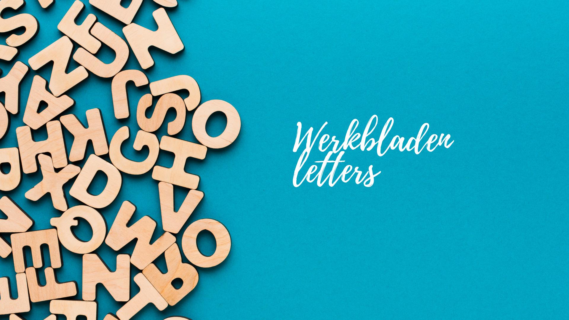 Werkbladen letters