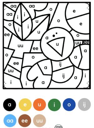 Kleuren op code herfst kleuters