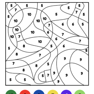 Kleuren op code kerst