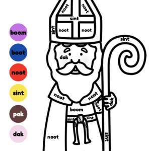 Kleuren op code Sinterklaas