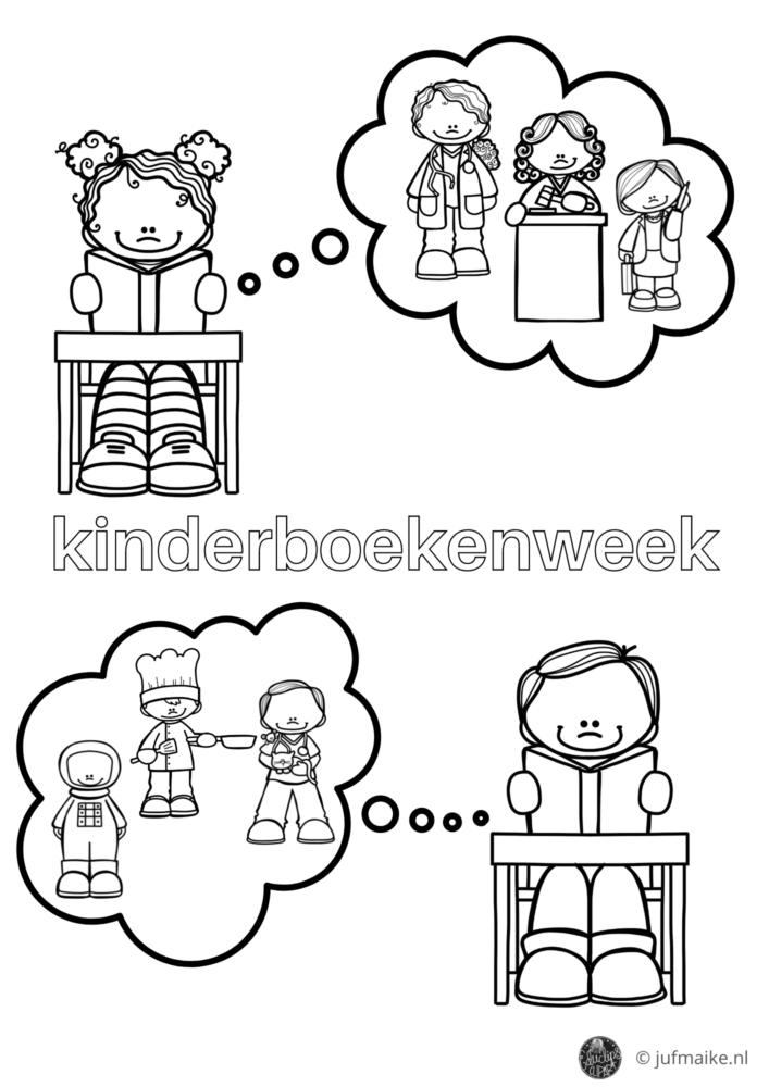 Kleurplaat Kinderboekenweek 2021 jonge kinderen