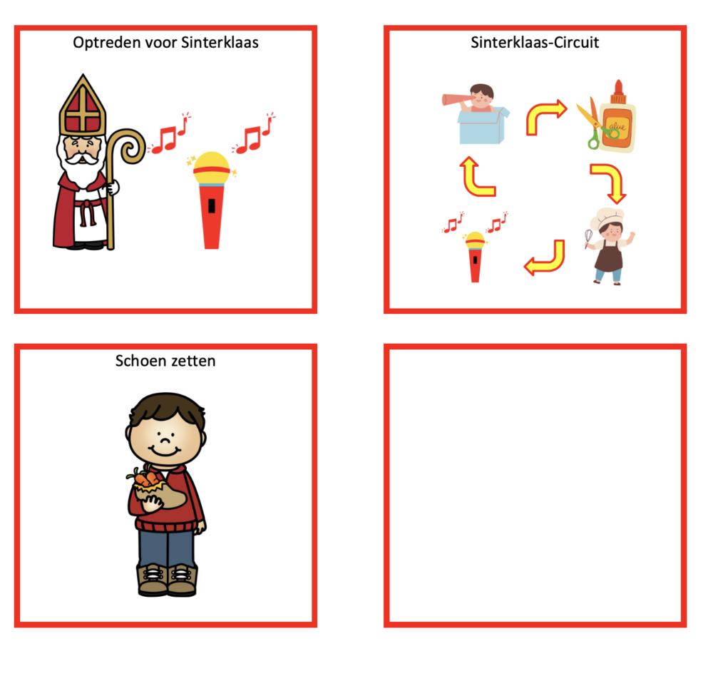 dagritmekaarten Sinterklaasviering