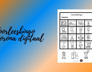 Voorleesbingo Corona digitaal