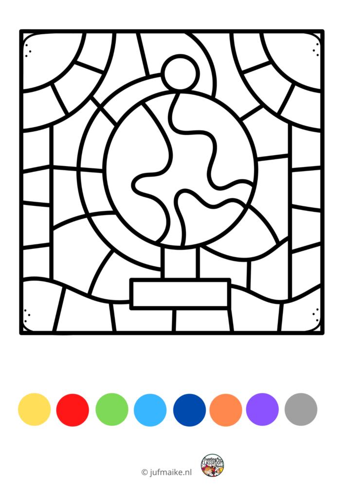 Groepswerk klas: kleuren op code