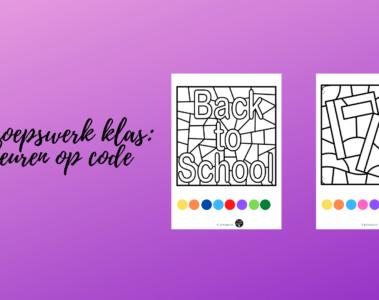 Groepswerk klas_ kleuren op code