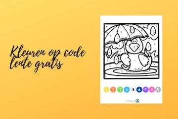 Kleuren op code lente gratis