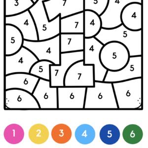 Kleuren op code cijfers