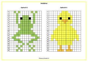 Pixel kleuren code lente