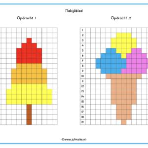 Pixel kleuren code zomer