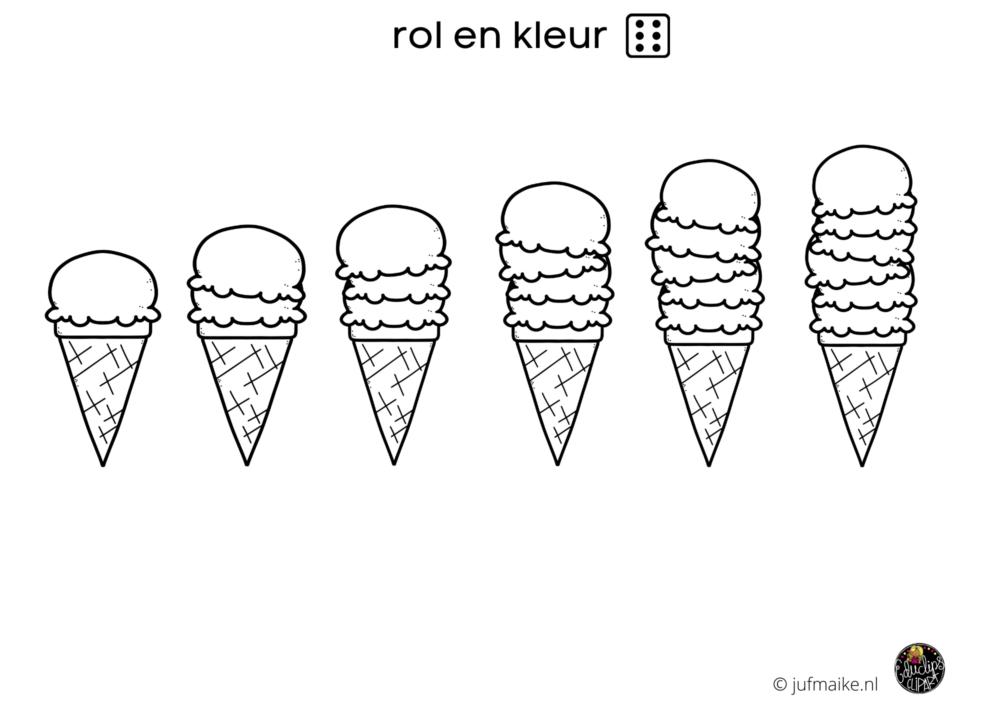 Rol en kleur ijs